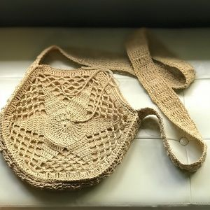 JCrew Macrame Weave crossbody bag